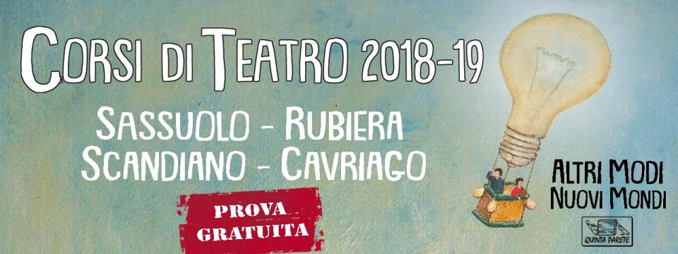 """Presentazione corsi teatrali """"Altri modi, nuovi mondi"""" 2018/19 – 23 Settembre 2018"""