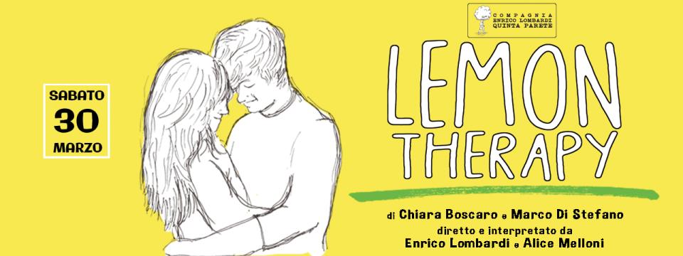 30 MARZO | LEMON THERAPY | Canossa T i a t e r