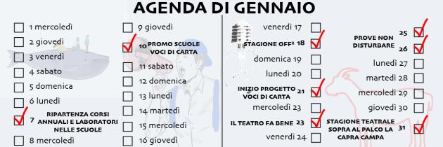 AGENDA DI GENNAIO