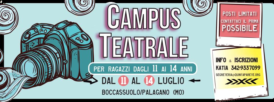 CAMPUS TEATRALE 11 – 14 ANNI