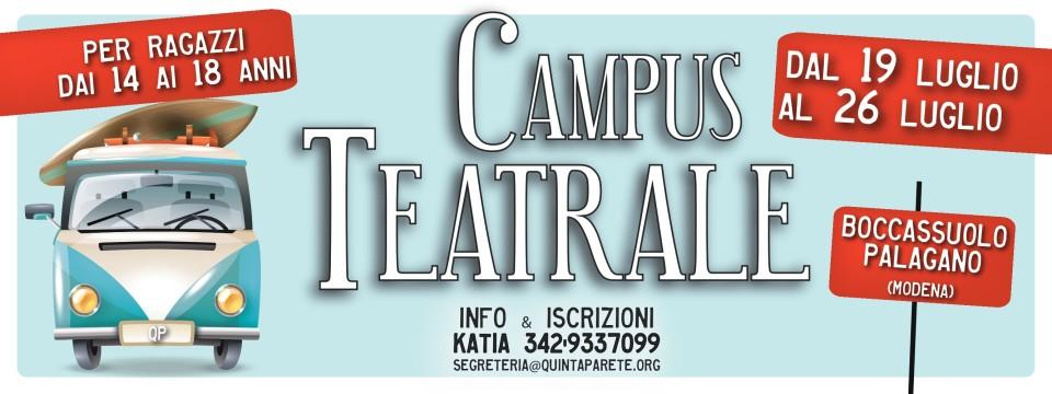 CAMPUS TEATRALE 14-18 ANNI