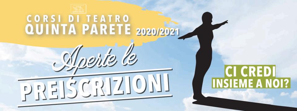 PRE-ISCRIZIONI CORSI DI TEATRO 2020/21