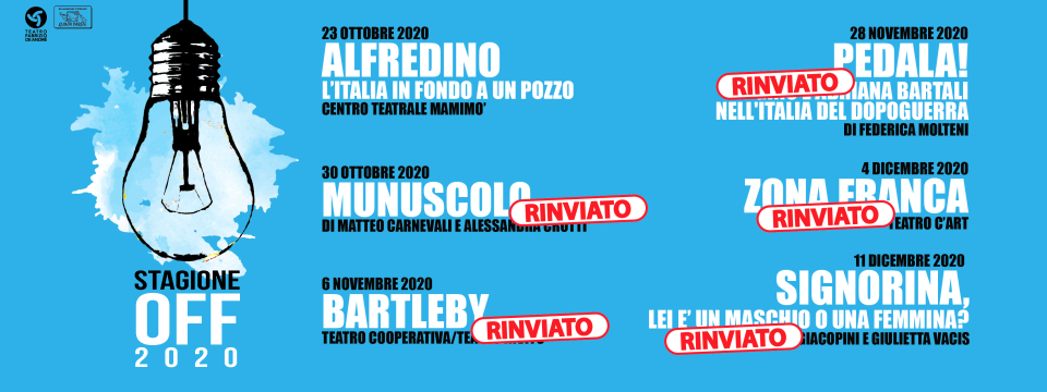 STAGIONE TEATRALE OFF 2020/21